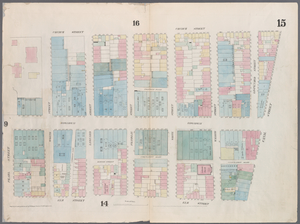 [Plate 15: Map bounded by Canal Street, Elm Street, Pearl street, Church Street.]