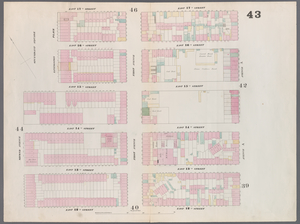 [Plate 43: Map bounded by East 17th Street, Avenue A, East 12th Street, Second Avenue.]