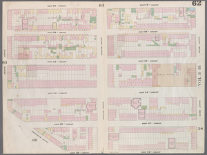 [Plate 62: Map bounded by West 17th Street, Sixth Avenue, 12th Street, Greenwich Avenue, Eighth Avenue.]