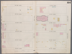 [Plate 84: Map bounded by West 52nd Street, East 52nd Street, Fourth Avenue, East 52nd Street, West 52nd Street, Sixth Avenue.]