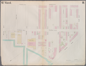 [Plate 9: Map bounded by Buttermilk Channel, Van Brunt Street, Degraw Street, Columbia Street, Carroll Street, Hamilton Avenue.]