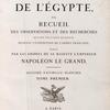 [Title page, vol. I] Description de l'Égypte, ...  Histoire naturelle. Planches. Tome premier.