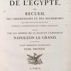 [Title page, vol. I] Description de l'Égypte, ...  État moderne. Planches. Tome première.