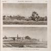 Égypte Moyenne. 1. Vue d'un village sur la rive gauche du Nil; 2. Vue de Minyeh [Minyâ].