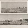 Isthme de Soueys [Isthmus of Suez]. 1. Vue de la ville et du port de Soueys; 2. Vue du fort d'Ageroud.
