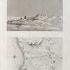 Environs de Soueys [Suez]. 1. Plan et nivellement des sources dites de Moyse; 2. Vue des sources et des environs.