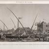 Environs du Kaire [Cairo]. 1. Vue de la prise d'eau du canal du Kaire, et de la fête qu'on célèbre annuellement à l'ouverture de la digue.
