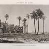 Environs du Kaire [Cairo]. Vue d'une mosquée ruinée dans l'île de Roudah [el-Rôda].