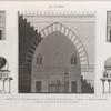 Le Kaire [Cairo]. 1.Portion de la coupe transversale de la Mosquée de Soultân Hasan; 2.3. Détails des portes intérieures; 4.5. Détails du pavillon destiné aux ablutions.