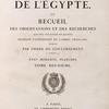 Description de l'Égypte, ... État moderne. Planches. Tome deuxième. Vol. 2, [Title page]