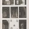 Alexandrie [Alexandria]. Plans et vues intérieures de plusieurs tours de l'enceinte des arabes.
