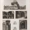 Alexandrie [Alexandria]. 1-4. Vues d'une mosquée ruinée et de plusieurs tours de l'enceinte des arabes; 5. Vue de l'arbre des pélerins et de l'aquéduc; 6.7. Plans d'une maison particulière.