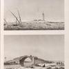 Alexandrie [Alexandria]. 1. Vue du pont de l'aquéduc sur le canal d'Alexandrie; 2. Vue du débarquement de l'armée française en Égypte, à la tour dite du Marabou.