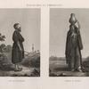 Costumes et portraits. 1. Sâys ou palefrenier; 2. Femme du peuple.
