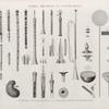 Vases, meubles et instrumens. 1-25. Instrumens à vent des égyptiens; 26-34. Instrumens bruyants et de percussion.
