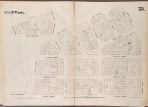 [Plate 35: Map bounded by Spring Street, Laurens Street, Canal Street, West Broadway, Beach Street, St. John's Lane, Laight Street, Canal Street, Varick Street.]
