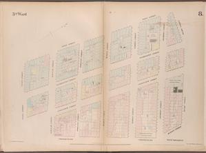 [Plate 8: Map bounded by West Street, Reade Street, Hudson Street, College Place, Barclay Street, Greenwich Street, Vessey Street.]