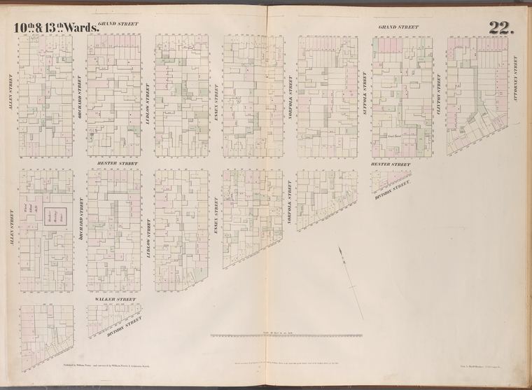 [Plate 22:Map bounded by Grand Street, Attorney Street, Division Street, Allen Street.]
