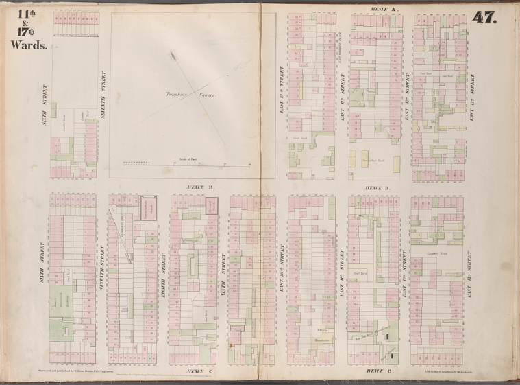 [Plate 47: Map bounded by East 13th Street, Avenue C, Sixth Street, Avenue A.]