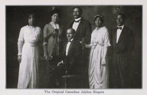 Picture postcard of the Original Canadian Jubilee Singers.