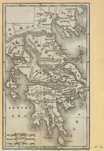 [Maps of Greece and comparative diagram of the world's mountain ranges.]