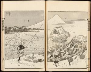 Fuji in a winter wind. Blockcutters: Egawa Sentarô (left), Beikichi (right)