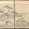 Artist drawing Mt. Fuji. Blockcutters: Kosetsu (left), Wasuke (right).