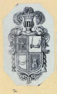 [Heraldic shields and devices.]