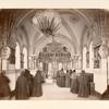 [Interior view of a church with a group of nuns.]