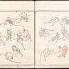 Martial artists, from How To Draw Simple Figures (Jimbutsu ryakugashiki)
