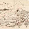 Fuji in a winter wind. Preparatory drawing for vol. 1, 17/18