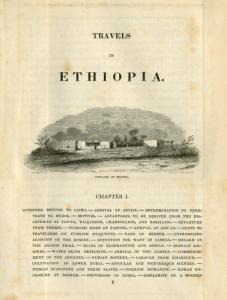 Travels in Ethiopia. Chapter I. [chapter heading] Cottages of Berber. [image caption]