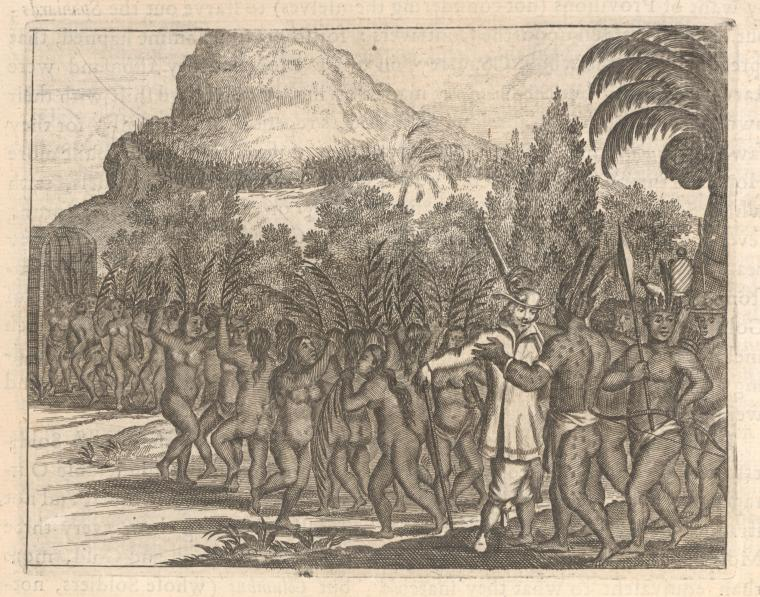Brave reception of a King in Hispaniola.