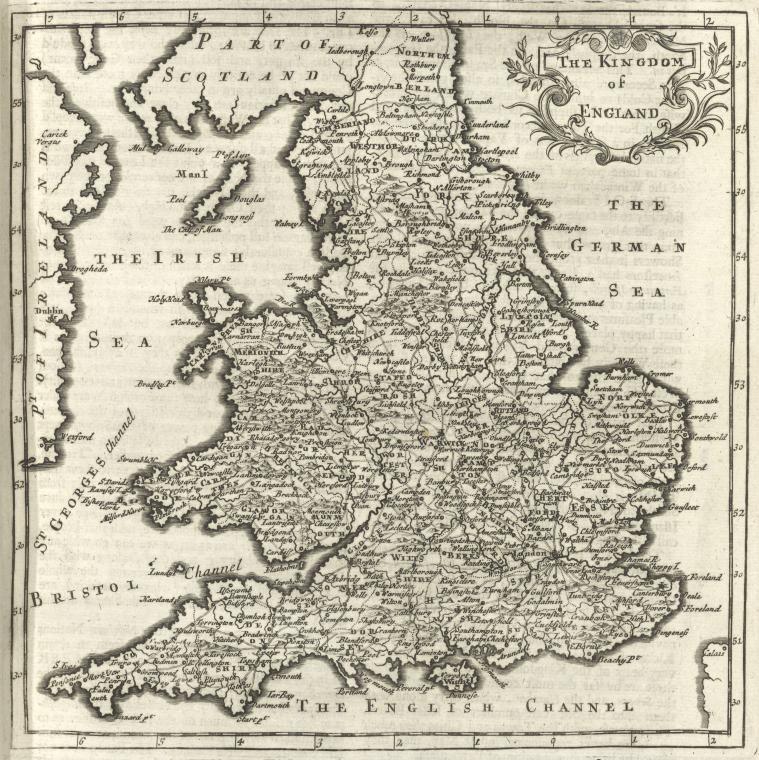 This is What Herman Moll and Britain Looked Like  in 1701