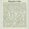Blagdon Lake.