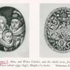 Portrait of James I, Anne, and Prince Charles, and the shield verso, from a medal by Simon van de Passe (about 1595-1647)..
