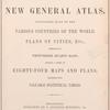 Mitchell's new general atlas, [Title page]