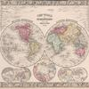 The world in hemispheres. With other projections &c. &c.
