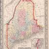 County map of the State of Maine ; Portland Harbor and vicinity [inset].