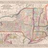 County map of the States of New York, New Hampshire, Vermont, Massachusetts, Rhode Island and Connecticut ; Harbor and vicinity of New York [inset]; Harbor and vicinity of Boston [inset].