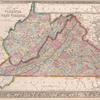 County map of Virginia and West Virginia.