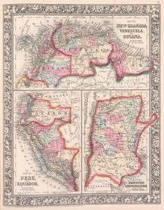 Map of New Granada [Grenada], Venezuela, and Guiana ; Map of Peru and Equadorv; Map of the Argentine Confederation.