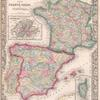 Map of France, Spain, and Portugal; Switzerland in cantons [inset]; Island of Corsica [inset].