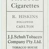 R. Hiskins, Follower, Carlton.
