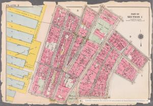 [Plate 2: Bounded by Carlisle Street, Greenwich Street, Thames Street, Trinity Place, Cedar Street, Broadway, Pine Street, William Street, Exchange Place, Broad Street, Beaver Street, Battery Place, and West Street.]