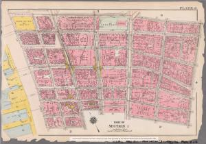 [Plate 3: Bounded by Vesey Street, Ann Street, William Street, Pine Street, Thames Street, Greenwich Street, Carlisle Street, Pearl Street, and West Street.]