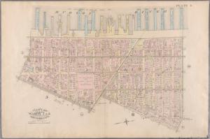 [Plate 3: Bounded by West Street (Hudson River, Piers 21-39), W. Houston Street, Sullivan Street, Canal Street, W. Broadway and Reade Street.]