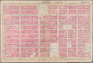 [Plate 14: Bounded by W. 25th Street, [Madison Square], W. 25th Street, Second Avenue, E. 14th Street, W. 14th Street, and Seventh Avenue.]