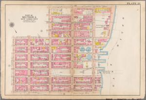[Plate 27: Bounded by E. 64th Street, Second Avenue, E. 68th Street, [East River] Exterior Street, E. 64th Street, Avenue A, E. 57th Street, and Lexington Avenue.]