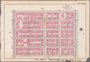 [Plate 101: Bounded by W. 105th Street, Central Park West, W. 100th Street and Amsterdam Avenue.]